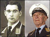 Willi Schludecker in 1942 (l) and 2007