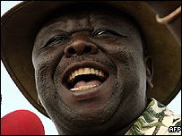 Movement for Democratic Change leader, Morgan Tsvangirai