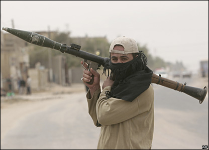 A Mehdi Army fighter in Basra, 28 March 2008