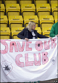 Save our club sign
