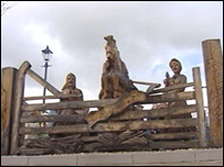 The Rebecca riots sculpture