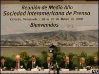 Reunión de la SIP en Caracas
