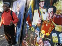 """Mural alegórico a lo que se ha definido como """"guerra mediática"""""""