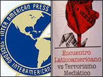 Logotipos de las reuniones de medios de comunicación en Caracas