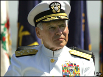 Adm Fallon relinquishes his command on 28 March 2008