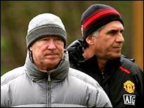 Sir Alex Ferguson (left) and Carlos Queiroz