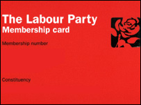 labour membership card