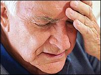 A stressed older man