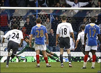 David James saves Ryan Taylor's penalty