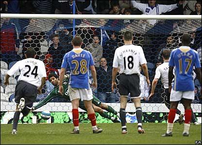 David James saves Ryan Taylor's penalty