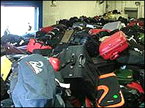 Bags piled up at Heathrow
