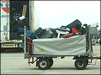 Bags being moved around Heathrow
