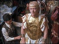 John Hurt in the BBC Costume Department