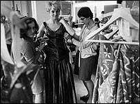 BBC Wardrobe Department in 1957