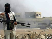 Shia fighter in the southern city of Basra, March 30