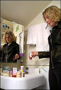 Louanne Moldovan with her medication