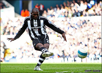 Geremi's free-kick gives Newcastle the lead