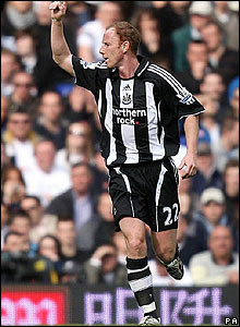 Newcastle's Nicky Butt celebrates