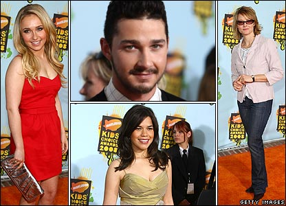 Hayden Panettiere, Shia LeBeouf, Jodie Foster and America Ferrera