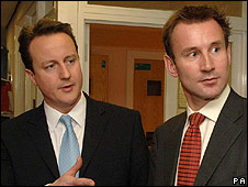 Shadow culture secretary Jeremy Hunt and David Cameron
