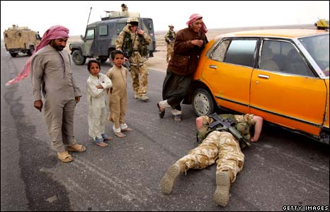 TA soldier in Iraq