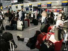 Terminal 5 queues on opening day
