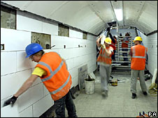 Metronet staff at work on London Underground