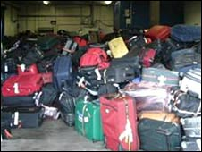 Backlogged baggage at Heathrow Terminal 5
