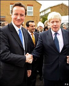 David Cameron and Boris Johnson on the campaign trail