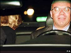 Henri Paul and Diana shortly before the crash