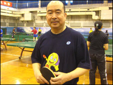 Ping-pong champion Liang Geliang