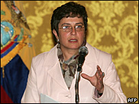 María Isabel Salvador, canciller de Ecuador