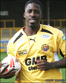 Dwain Chambers has never previously played rugby league