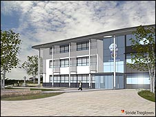 Artist's impression of Bodmin Police Station: Stride Treglown