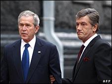 President Bush with Ukrainian President Viktor Yushchenko