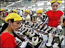 Nike factory workers in Vietnam