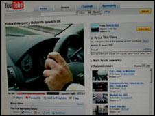 YouTube clip visual