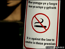 The smoking ban was introduced in Wales on 2 April 2007