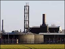 Bacton gas terminals in Norfolk
