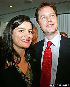 Nick Clegg with wife Miriam