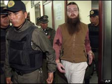 Triston Jay Amero, an American convicted of hotel bombings in Bolivia