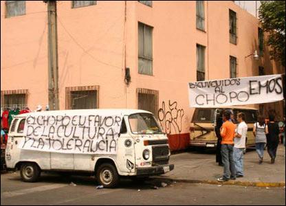 Protestas en M�xico. Im�genes cortes�a de Daniel Drack