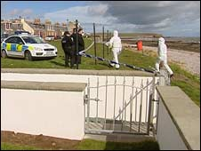 Police cordoned off the beach for further investigations