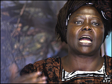 Wangari Maathai on 20 February 2008