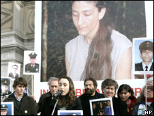 A protest for the Farc hostage Ingrid Betancourt