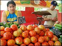 Mercado de alimentos (Foto: Raquel Pérez)