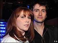Catherine Tate and David Tennant at Tuesday's launch