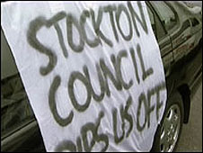 Stockton taxi drivers protest