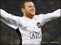 Man Utd striker Wayne Rooney