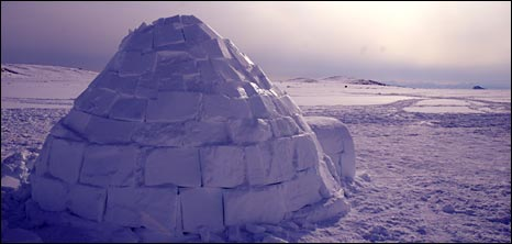 The igloo that Dan helped build